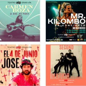 CARMEN BOZA, MR. KILOMBO, EL JOSE Y SECOND EN MADRID